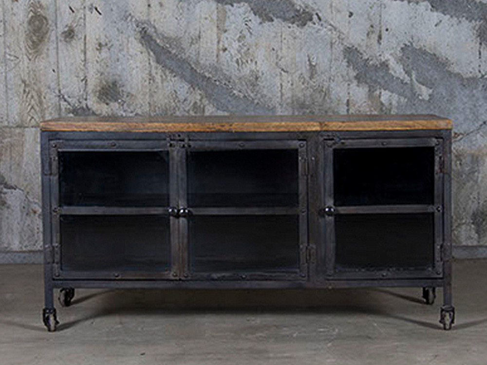 Iron sideboard w/wood top