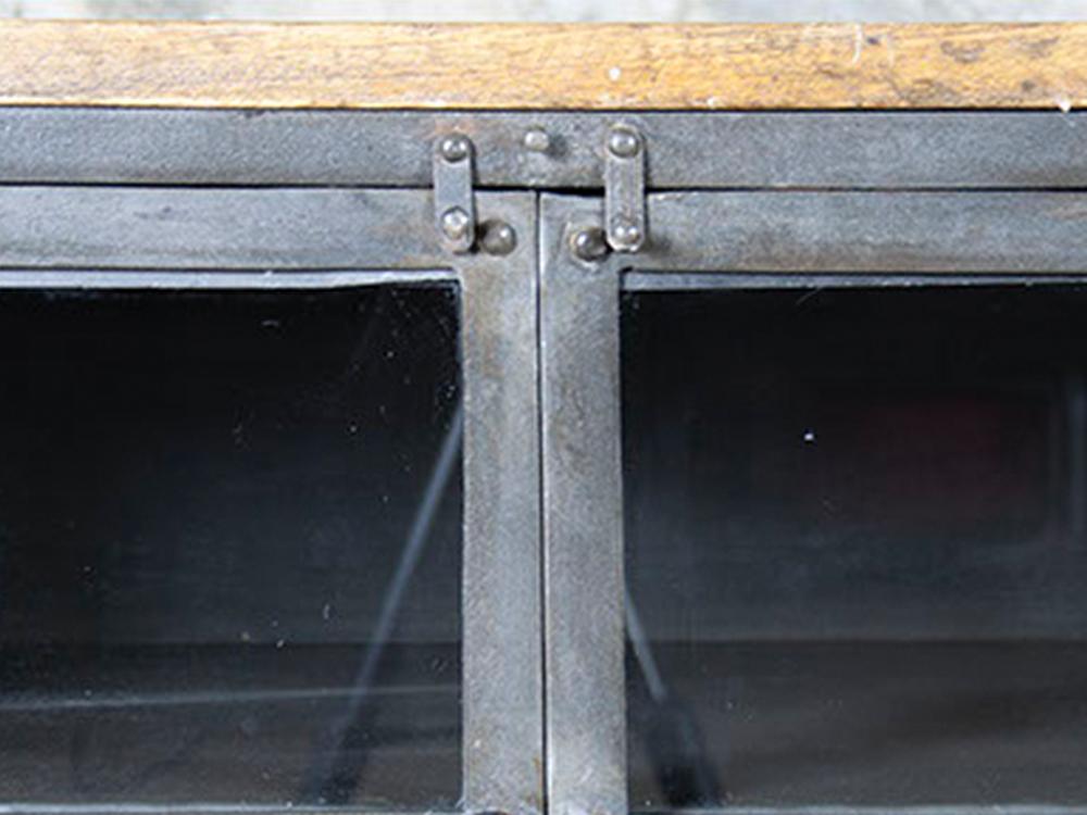 Iron sideboard w/wood top