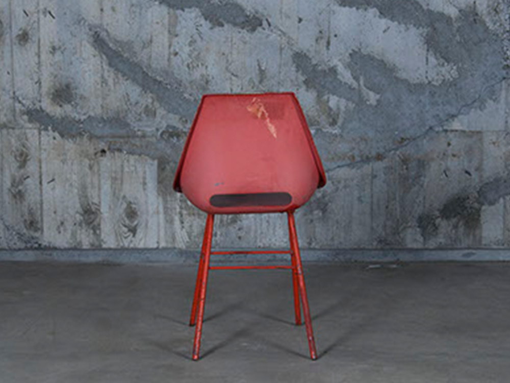 Vintage red chair