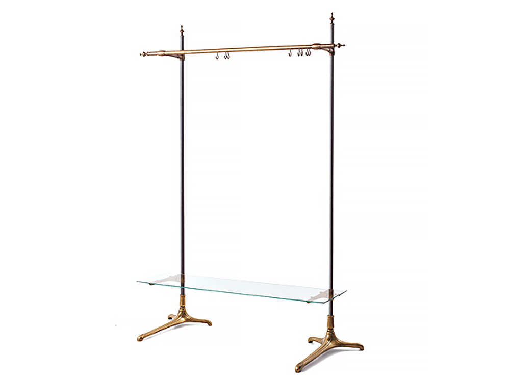 Brass iron leg hanger rack