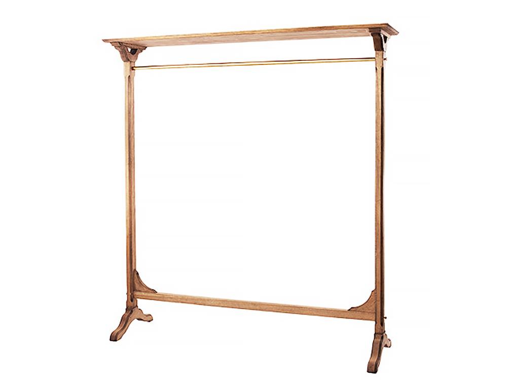 Wooden hanger rack