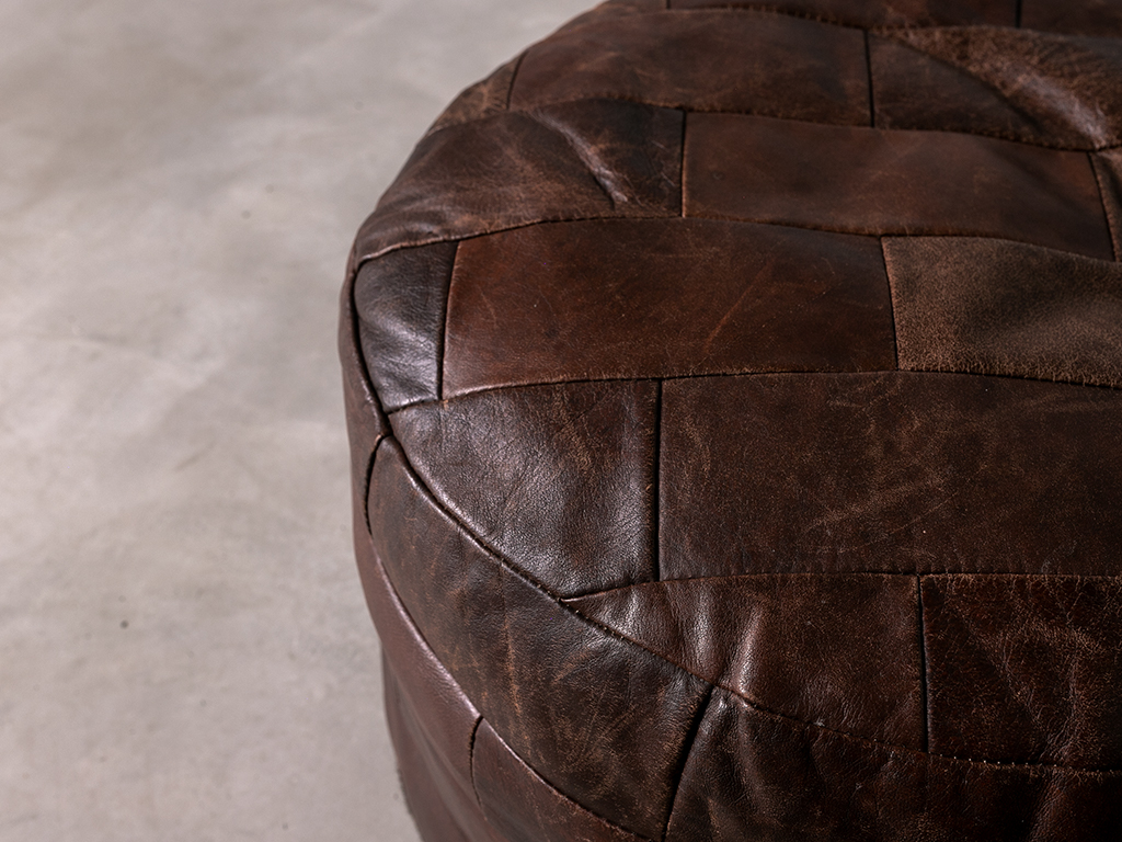 vintage Leather Stool | レザースツール