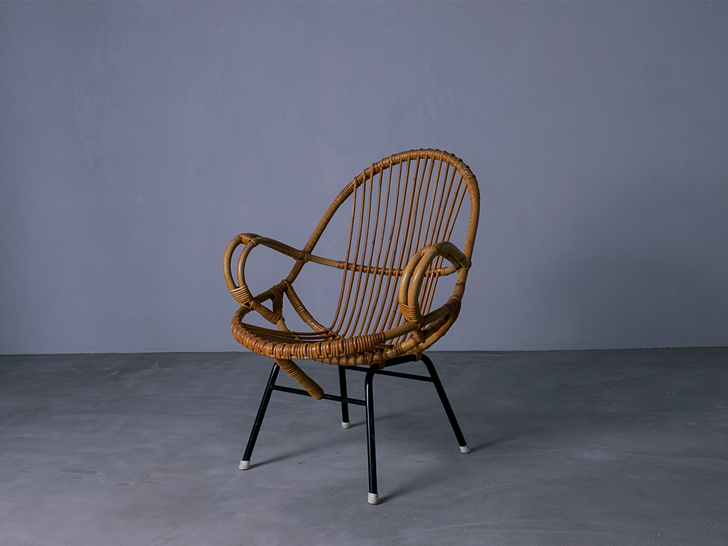 Vintage Rohé  Rattan Chair l ラタンチェアー