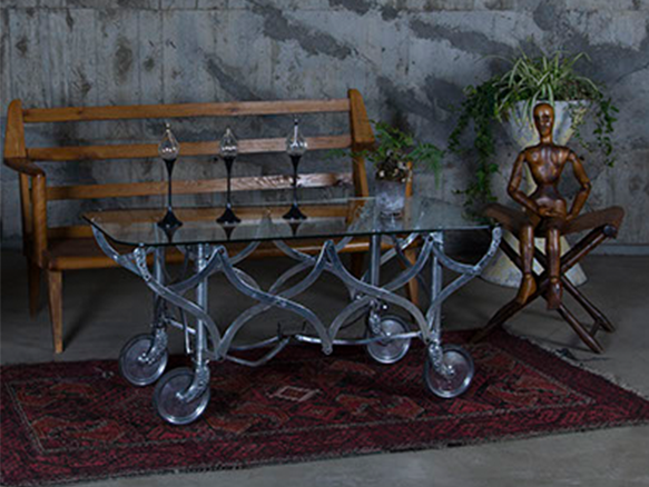 Coffin cart coffee table