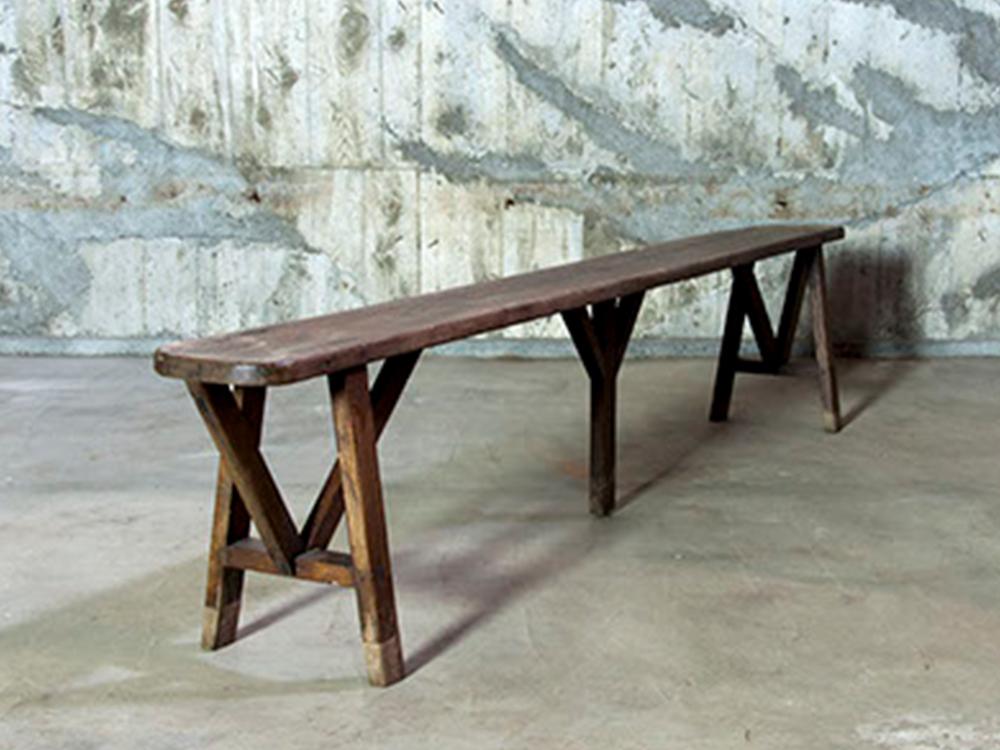 Oak long bench