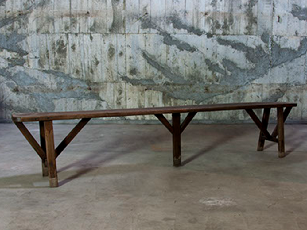 Oak long bench