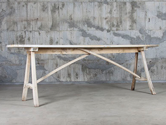 Primitive long table