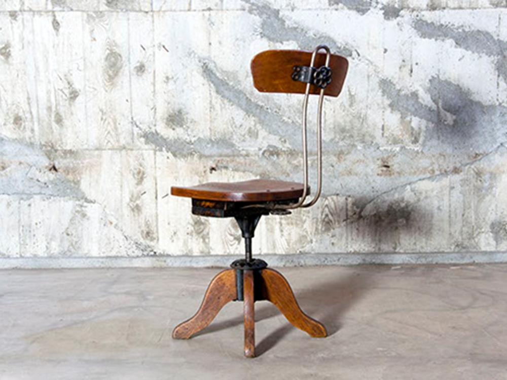 Industrial wood chair