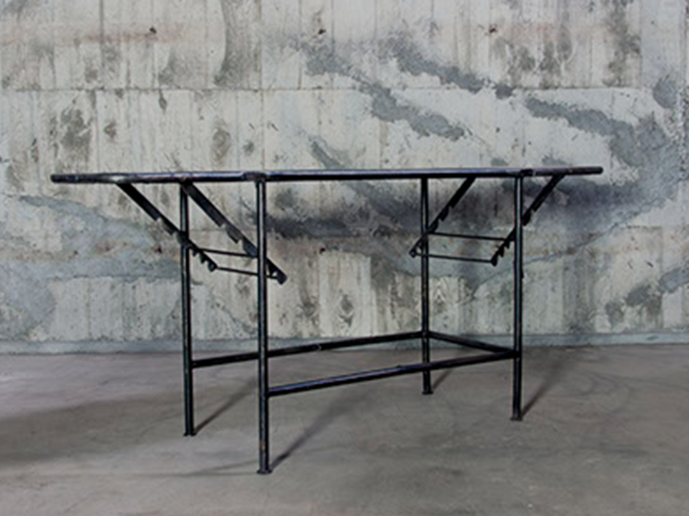 Industrial iron table