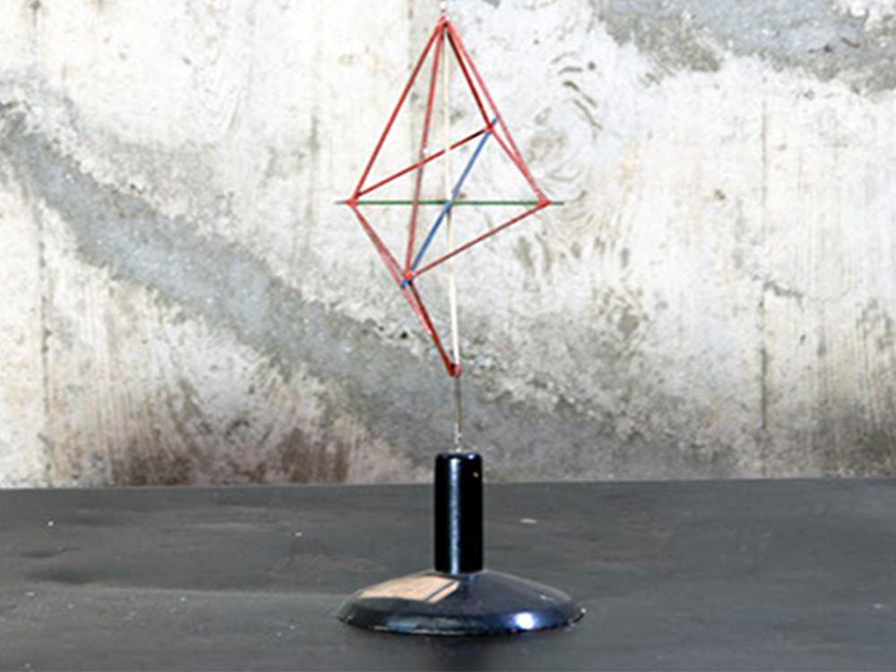 Vintage geometric configuration teaching materials