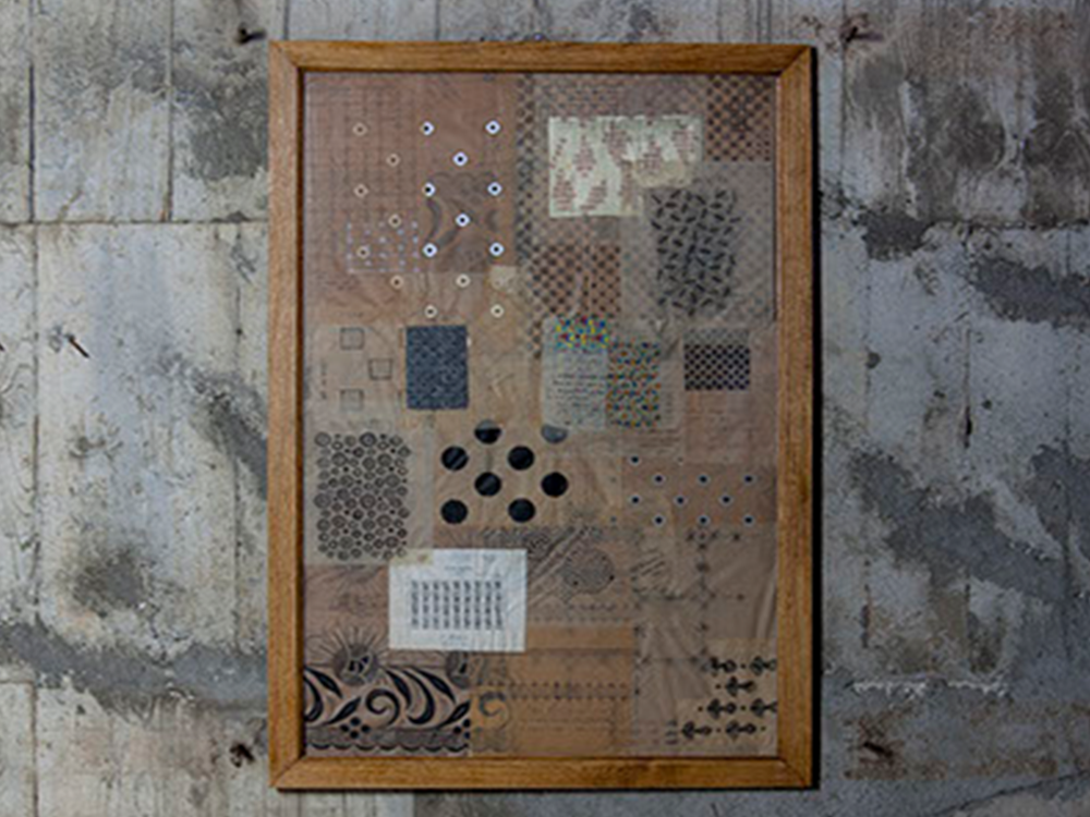 Vintage textile design tapestry