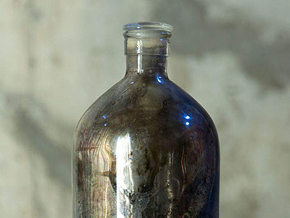 Vintage mercury bottle object