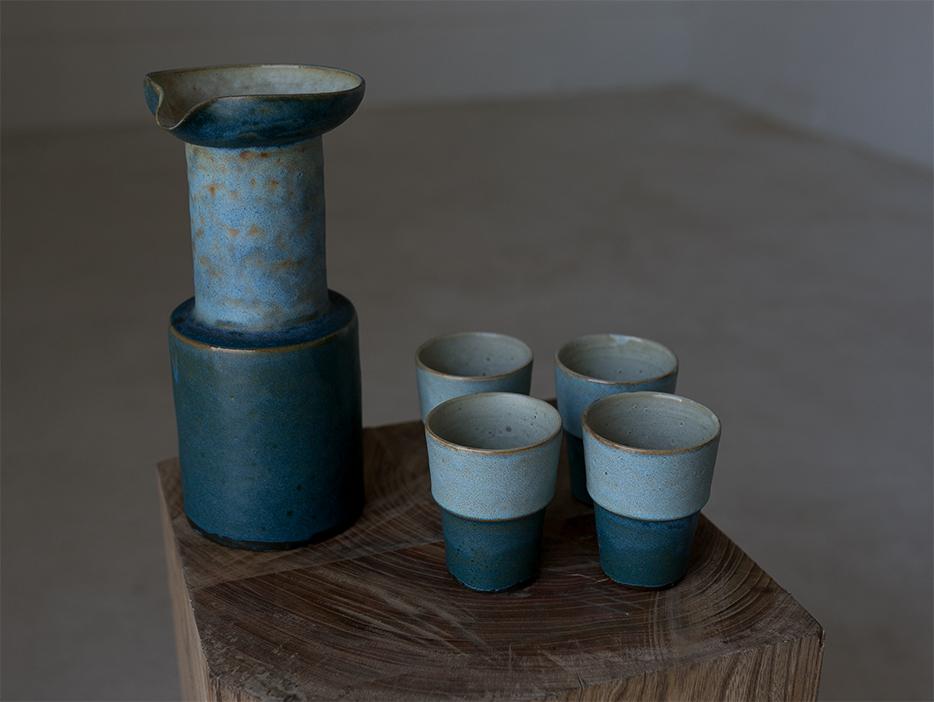 Vintage jug w/cup l ビンテージピッチャー