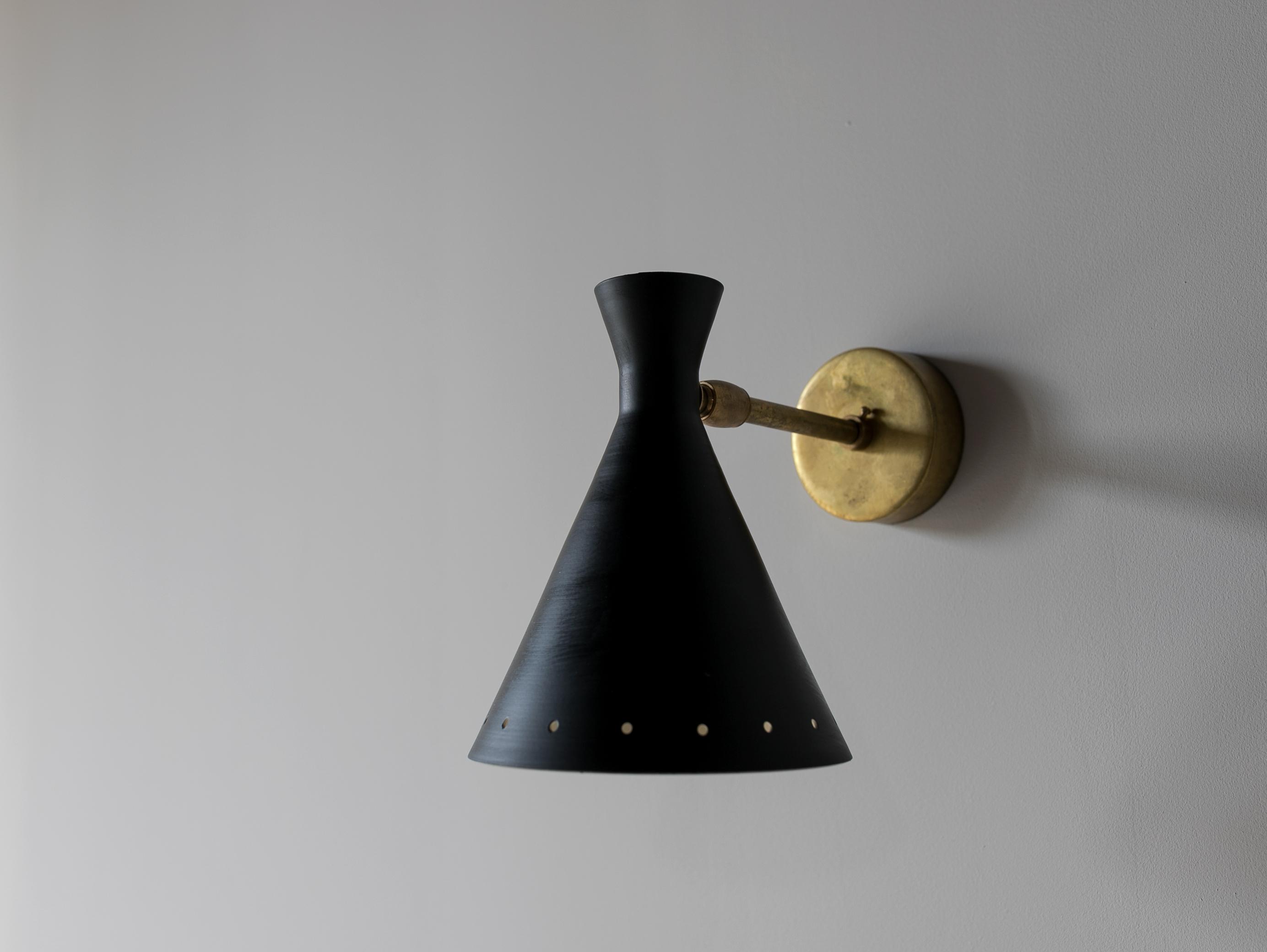 Vintage Black Cone Sconce l ビンテージウォールライト