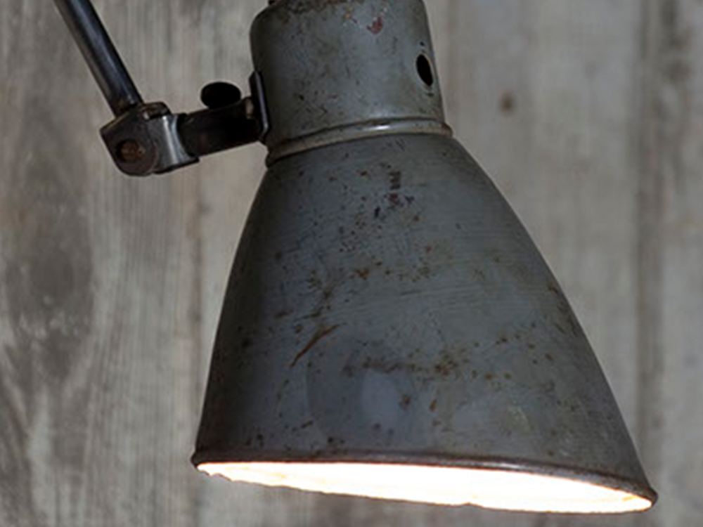 Vintage industrial wall lamp