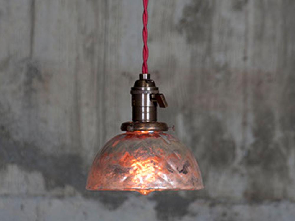 Vintage mercury grass shade lamp