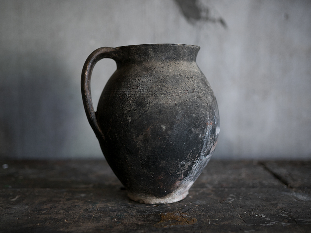 Old Folk Pottery Jug from Romania