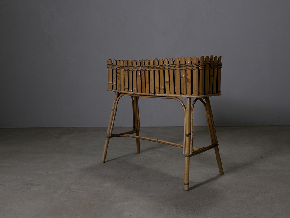Vintage bamboo planter l ヴィンテージ プランター