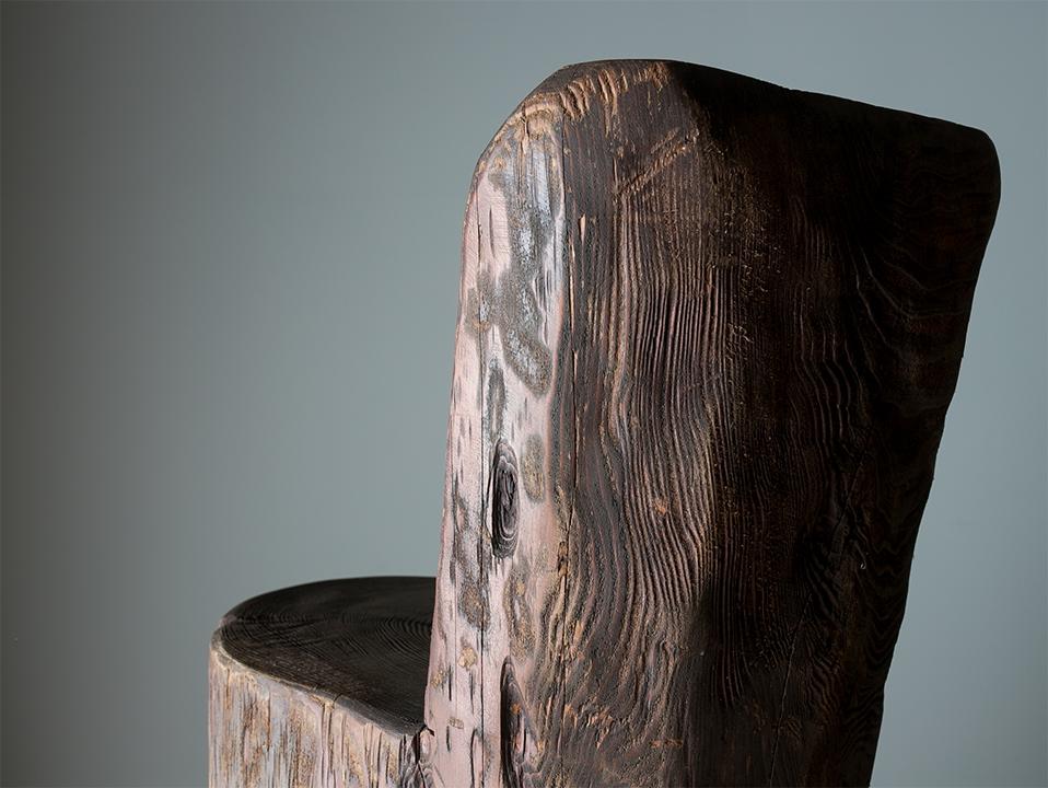 Wooden primitive stool I プリミィティブスツール