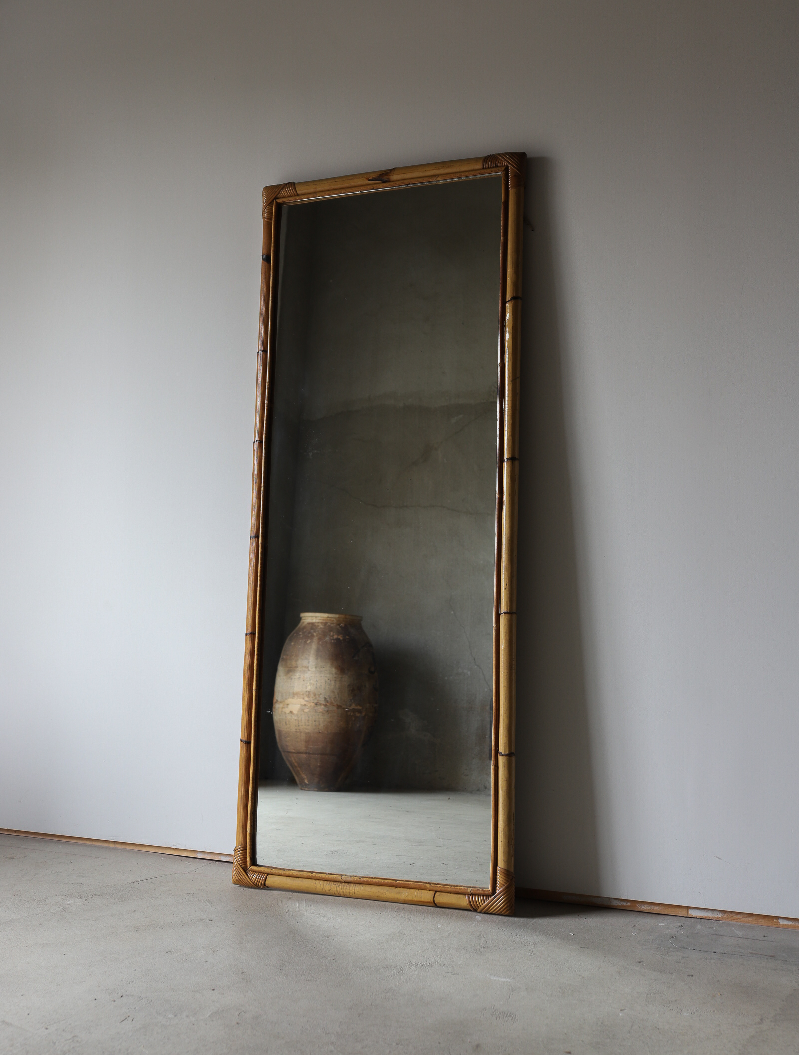 French bamboo mirror ‖ フレンチバンブーミラー