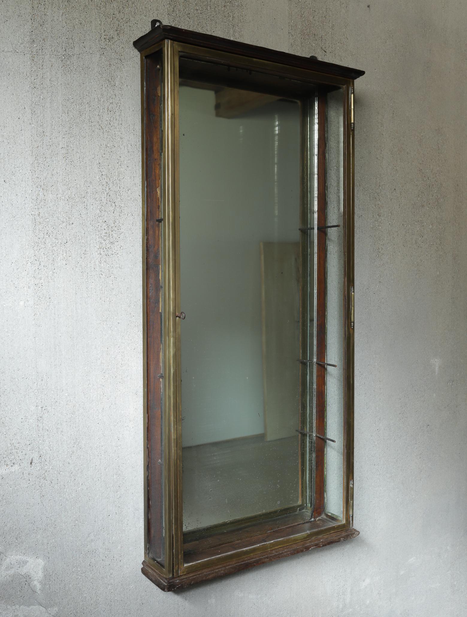 Brass glass case I ショーケース
