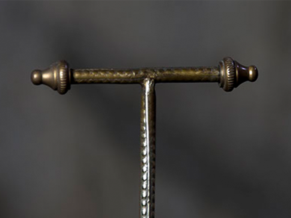 Brass display T-stand