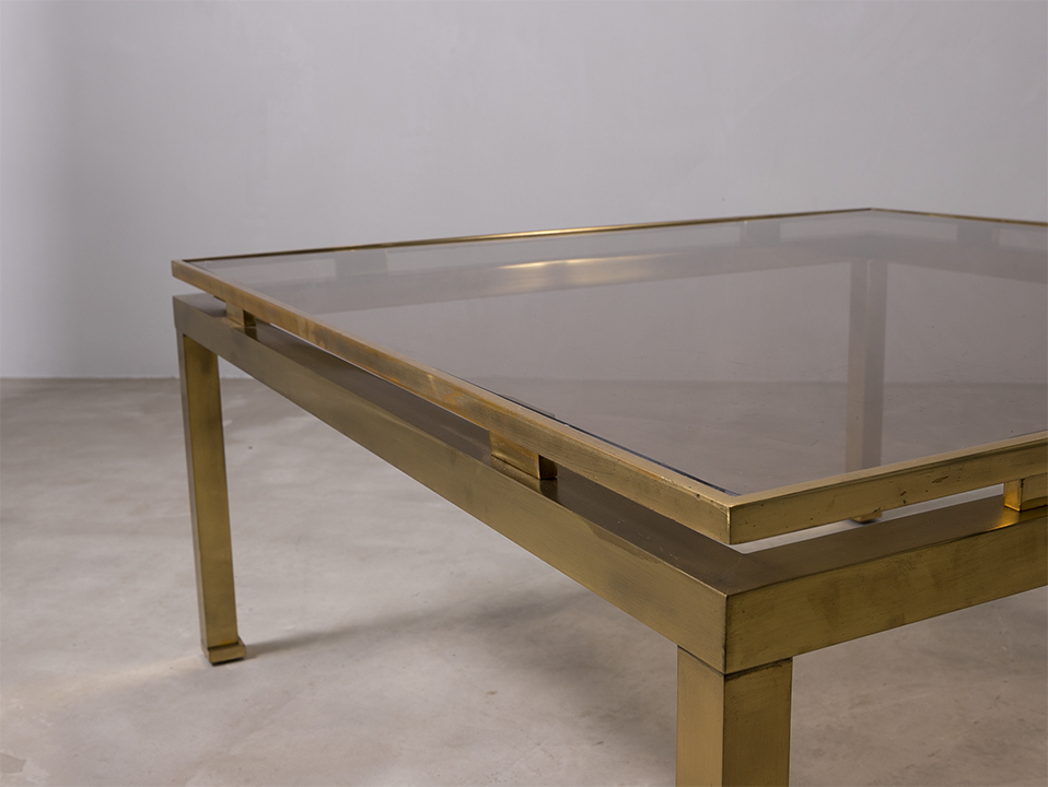 Coffee table w/ brass leg l コーヒーテーブル