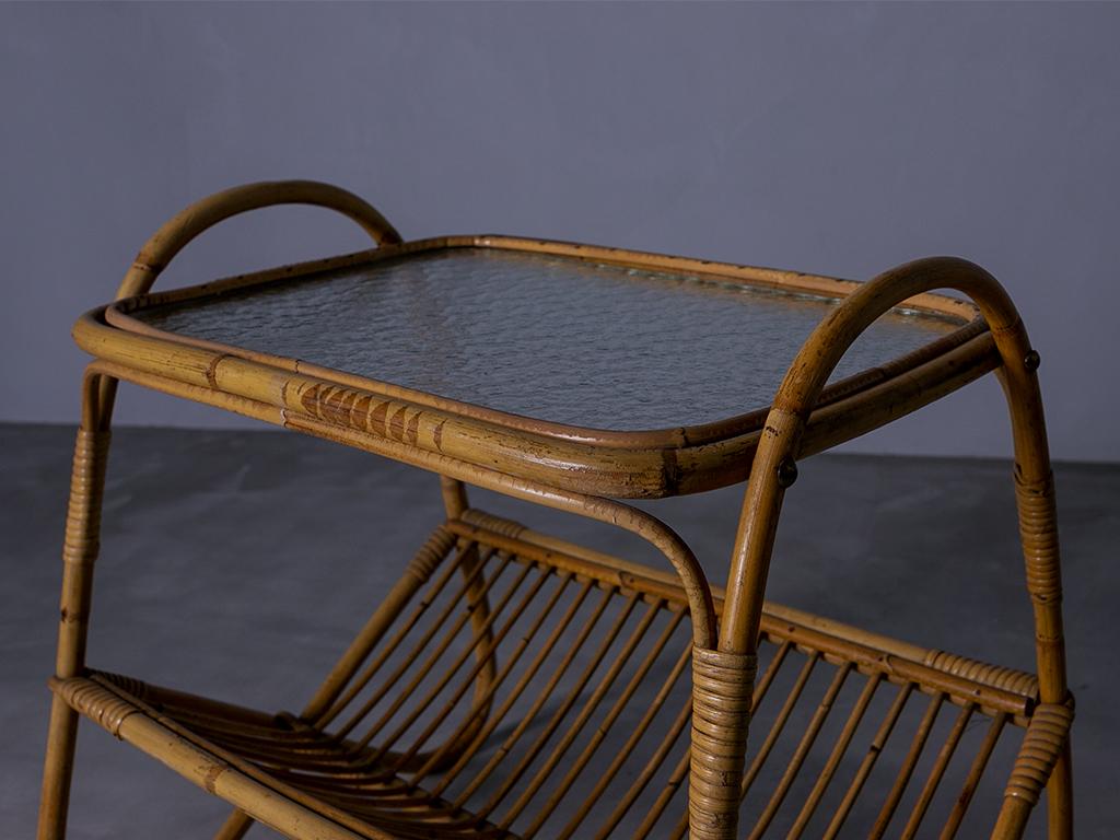 Rattan Side Table l ラタンサイドテーブル