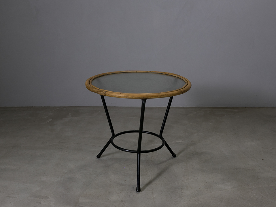 Vintage Rohé Rattan Table l ラタンテーブル